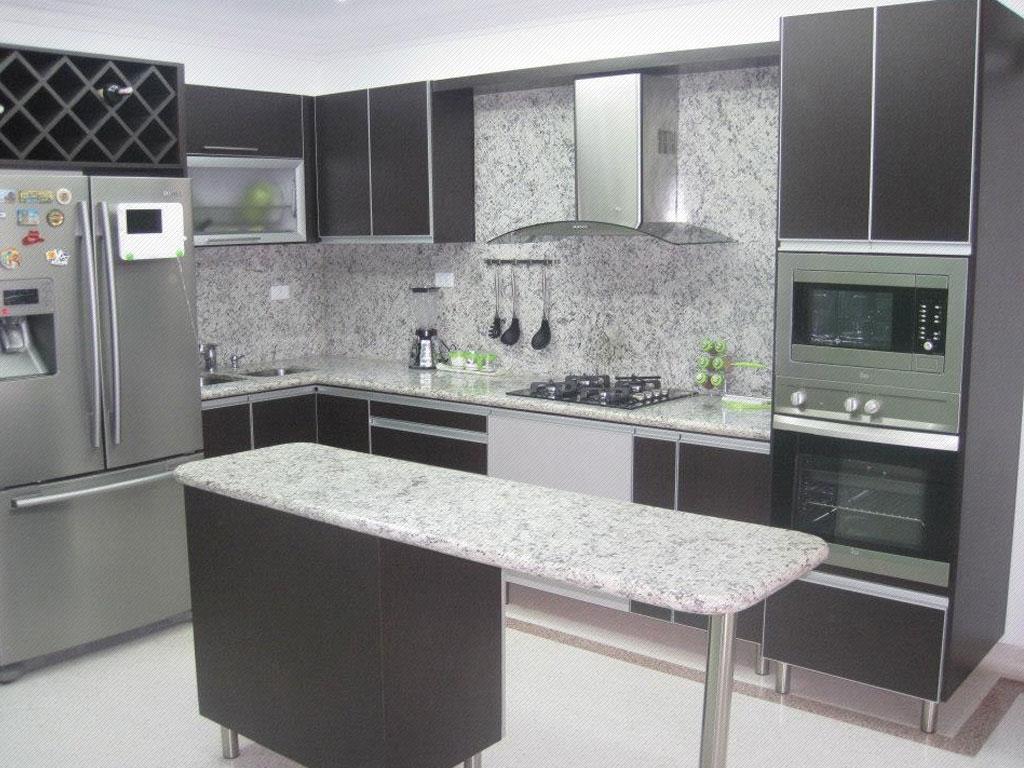 Cocinas integrales en medell n obra blanca y reformas en for Cocinas modernas blancas precios